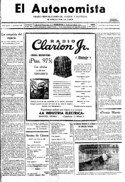 Autonomista, L'. 8/1/1931. [Issue]
