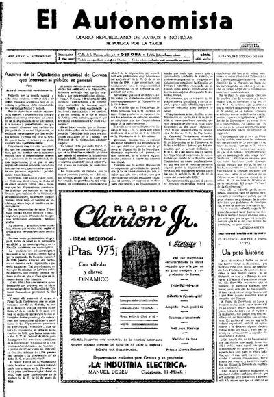 Autonomista, L'. 10/1/1931. [Issue]