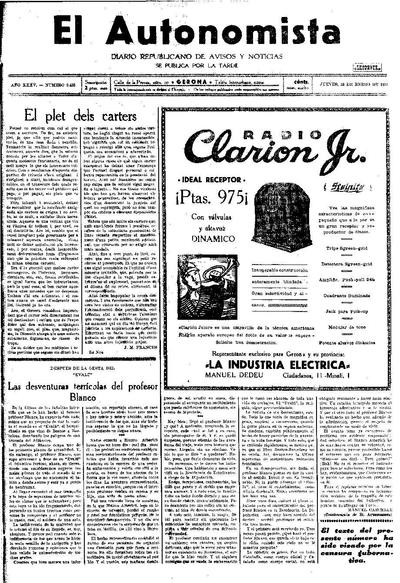 Autonomista, L'. 15/1/1931. [Issue]
