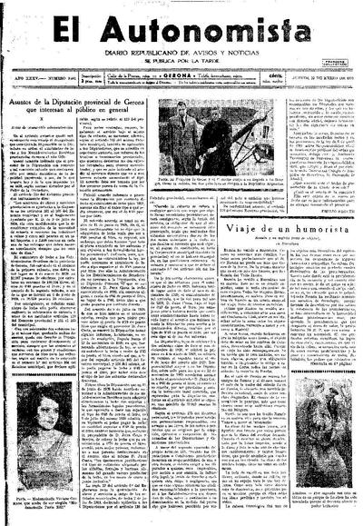 Autonomista, L'. 22/1/1931. [Issue]
