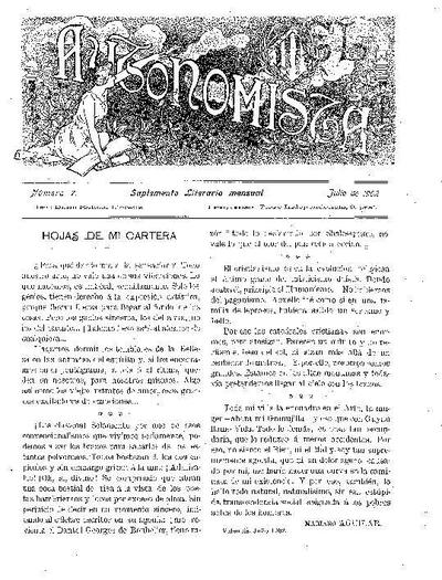 Autonomista. Suplement Literari, L'. 1/7/1902. [Issue]