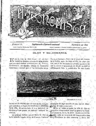 Autonomista. Suplement Literari, L'. 1/9/1902. [Issue]