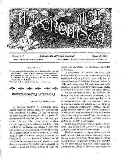 Autonomista. Suplement Literari, L'. 1/1/1903. [Issue]