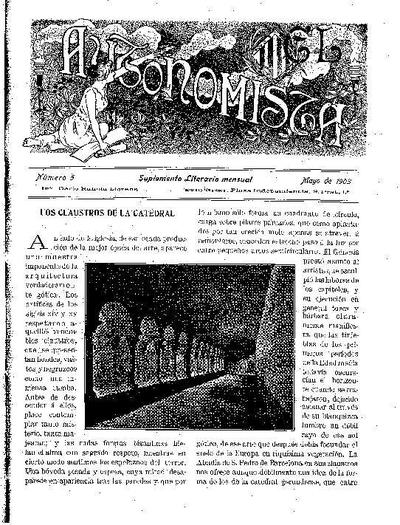 Autonomista. Suplement Literari, L'. 1/5/1903. [Issue]