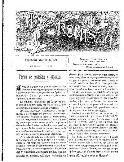 Autonomista. Suplement Literari, L'. 29/10/1907. [Issue]