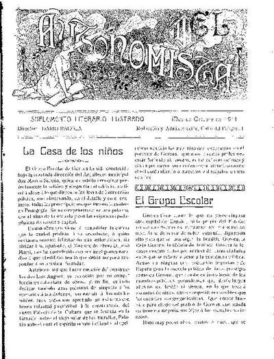 Autonomista. Suplement Literari, L'. 1/10/1911. [Issue]