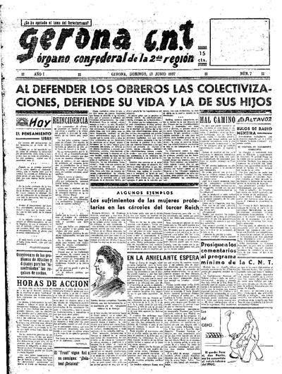 Gerona CNT. 13/6/1937. [Issue]