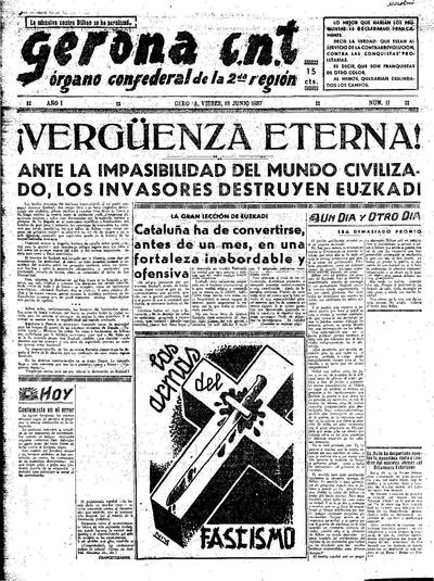 Gerona CNT. 18/6/1937. [Issue]