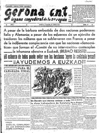 Gerona CNT. 19/6/1937. [Issue]