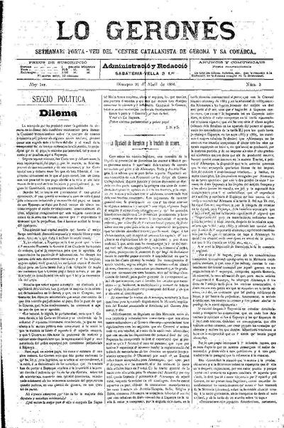 Geronés, Lo. 21/4/1894. [Issue]