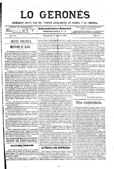 Geronés, Lo. 28/4/1894. [Issue]