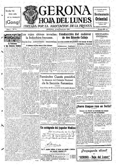 Hoja del Lunes. 23/1/1950. [Issue]