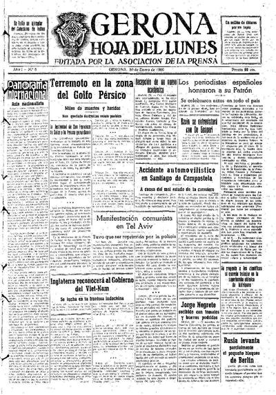Hoja del Lunes. 30/1/1950. [Issue]
