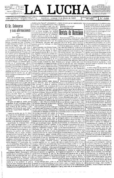 Lucha, La. 3/1/1897. [Issue]