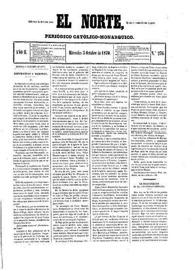 Norte, El. 5/10/1870. [Issue]