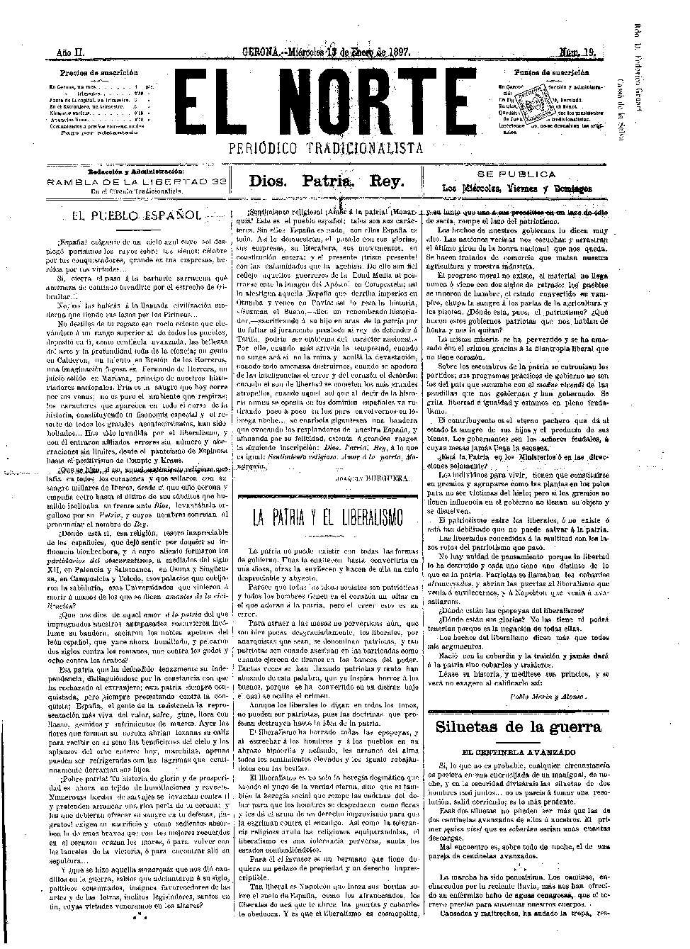 Norte, El. 13/1/1897. [Issue]