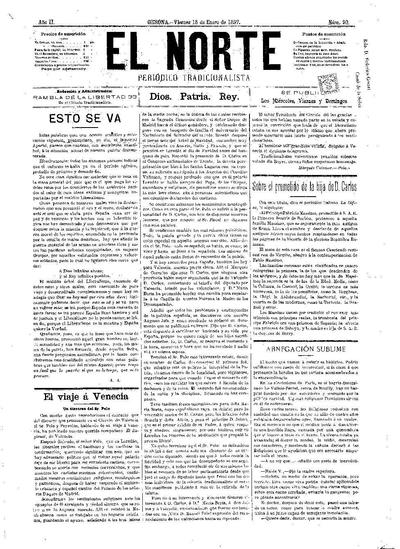Norte, El. 15/1/1897. [Issue]