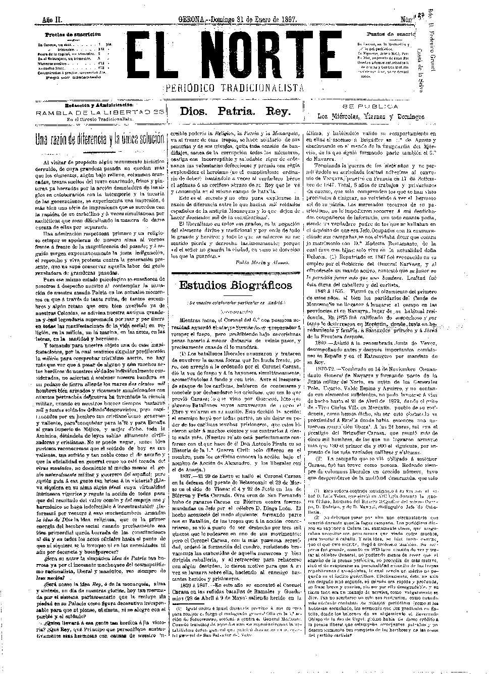 Norte, El. 31/1/1897. [Issue]
