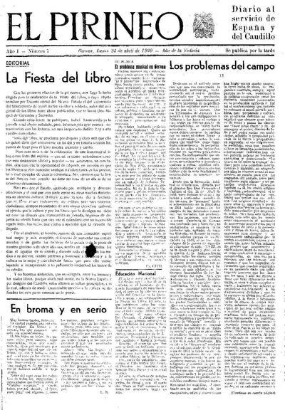 Pirineo, El. 24/4/1939. [Issue]