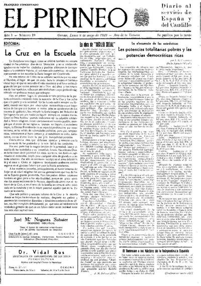 Pirineo, El. 8/5/1939. [Issue]