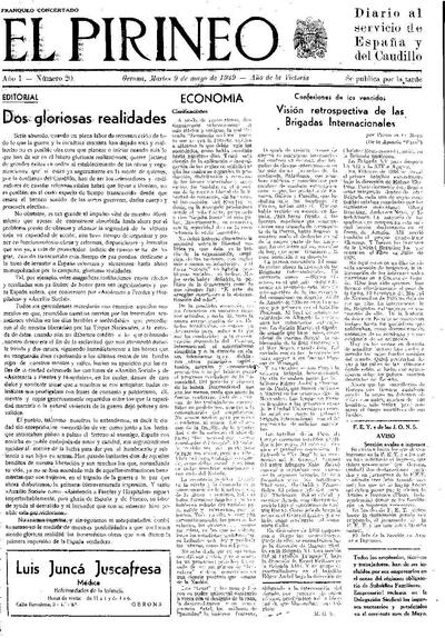 Pirineo, El. 9/5/1939. [Issue]