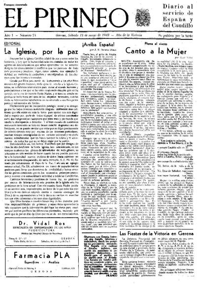 Pirineo, El. 13/5/1939. [Issue]