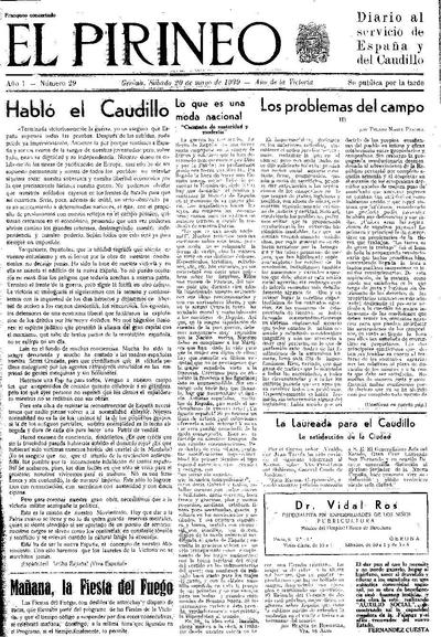 Pirineo, El. 20/5/1939. [Issue]
