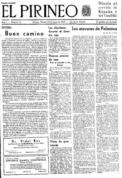 Pirineo, El. 26/5/1939. [Issue]