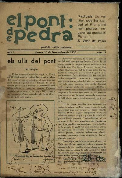 Pont de pedra, El. 16/11/1935. [Issue]