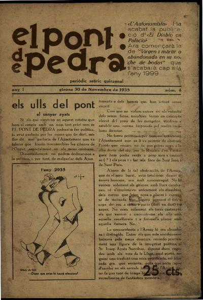 Pont de pedra, El. 30/11/1935. [Issue]