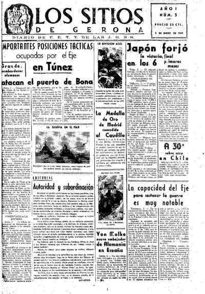 Sitios de Gerona, Los. 3/1/1943. [Issue]