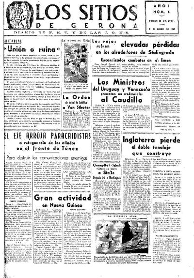 Sitios de Gerona, Los. 5/1/1943. [Issue]