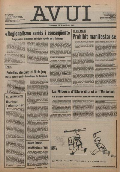 Avui. 28/4/1976. [Issue]