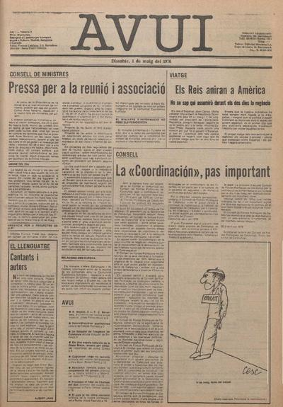 Avui. 1/5/1976. [Issue]
