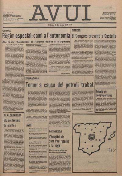 Avui. 6/5/1976. [Issue]