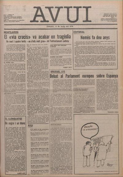 Avui. 11/5/1976. [Issue]