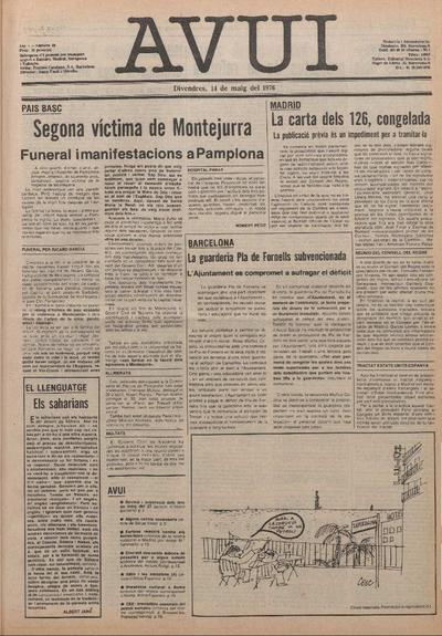 Avui. 14/5/1976. [Issue]