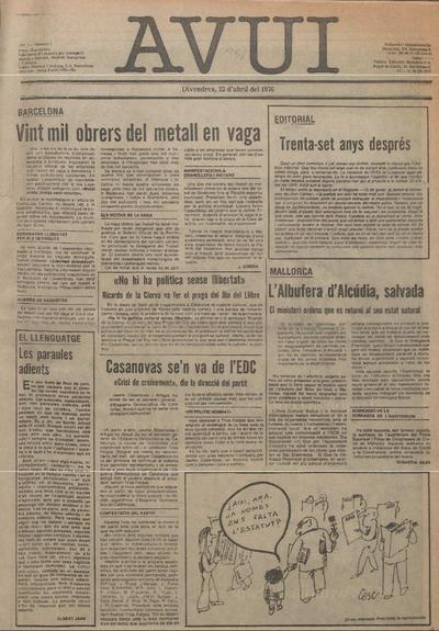 Avui. 23/4/1976. [Issue]