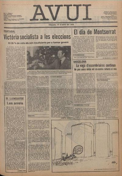 Avui. 27/4/1976. [Issue]