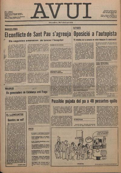 Avui. 30/4/1976. [Issue]