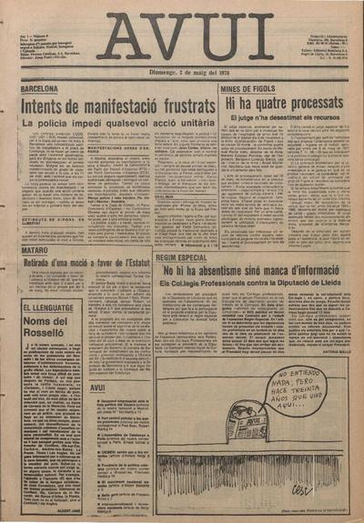 Avui. 2/5/1976. [Issue]