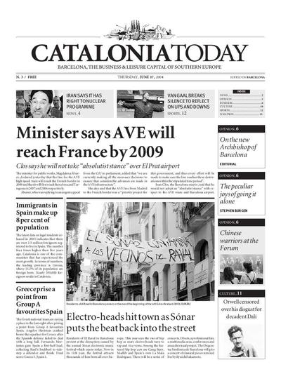 Catalonia Today. 17/6/2004. [Issue]