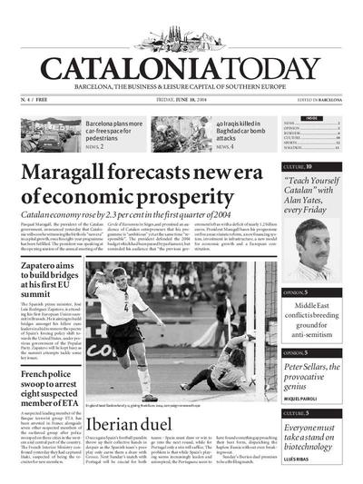 Catalonia Today. 18/6/2004. [Issue]