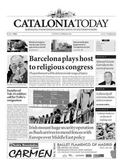 Catalonia Today. 26/6/2004. [Issue]