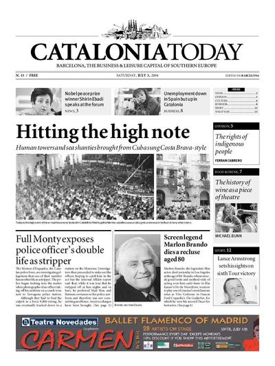 Catalonia Today. 3/7/2004. [Issue]