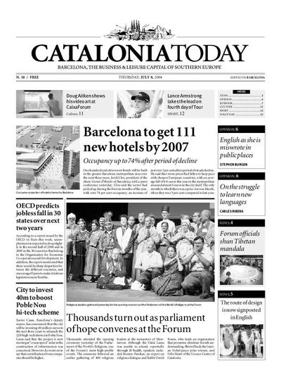 Catalonia Today. 8/7/2004. [Issue]