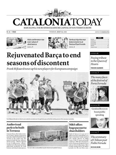 Catalonia Today. 13/7/2004. [Exemplar]