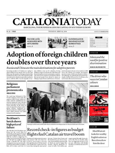 Catalonia Today. 15/7/2004. [Issue]