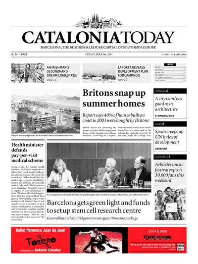 Catalonia Today. 16/7/2004. [Issue]