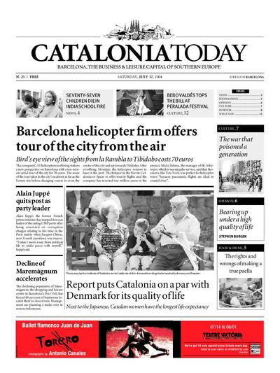 Catalonia Today. 17/7/2004. [Issue]